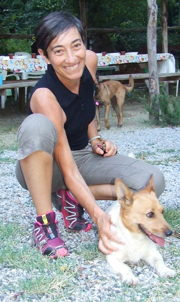 Laura Rossin, educatrice cinofila. Qui con la sua canina | Rosignano Marittimo, Livorno e Pisa