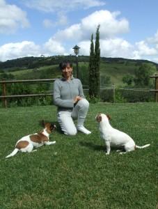 Laura Rossin, Nocciola e Mirtilla: i suoi cani